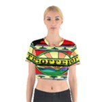 Coffee Tin A Classic Illustration Cotton Crop Top