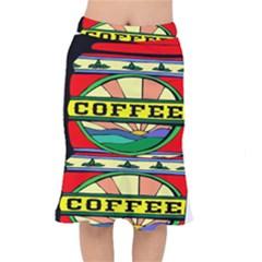 Coffee Tin A Classic Illustration Mermaid Skirt by Nexatart