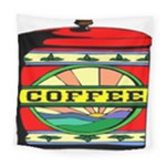 Coffee Tin A Classic Illustration Square Tapestry (Large)