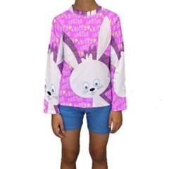 Easter Bunny  Kids  Long Sleeve Swimwear by Valentinaart