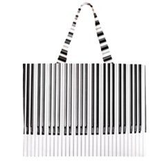 Abstract Piano Keys Background Zipper Large Tote Bag by Nexatart