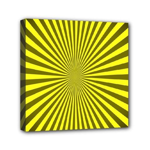 Sunburst Pattern Radial Background Mini Canvas 6  X 6  by Nexatart