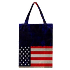 Grunge American Flag Background Classic Tote Bag by Nexatart