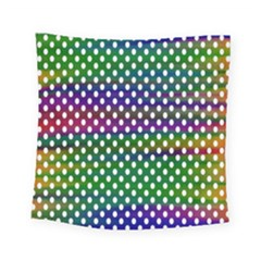 Digital Polka Dots Patterned Background Square Tapestry (small) by Nexatart