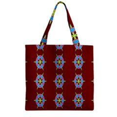 Geometric Seamless Pattern Digital Computer Graphic Zipper Grocery Tote Bag by Nexatart