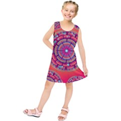 Pretty Floral Geometric Pattern Kids  Tunic Dress by LovelyDesigns4U