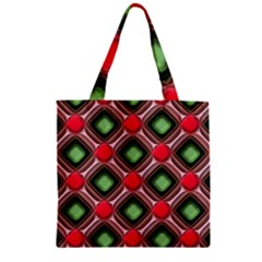 Gem Texture A Completely Seamless Tile Able Background Design Zipper Grocery Tote Bag by Nexatart