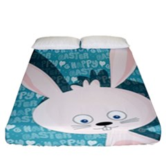 Easter Bunny  Fitted Sheet (california King Size) by Valentinaart