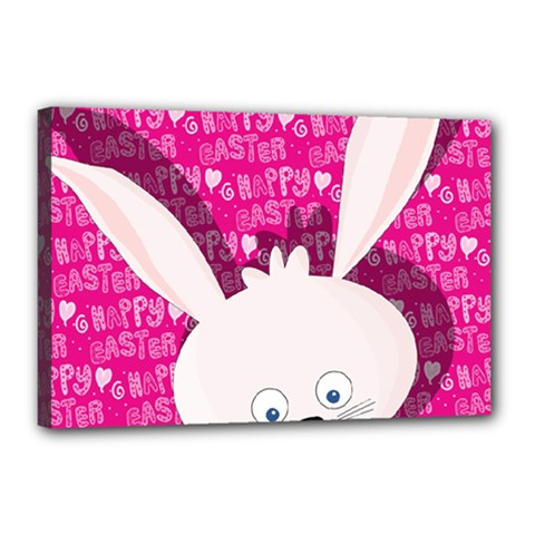 Easter Bunny  Canvas 18  X 12  by Valentinaart