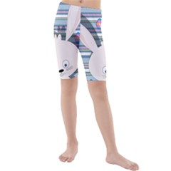 Easter bunny  Kids  Mid Length Swim Shorts