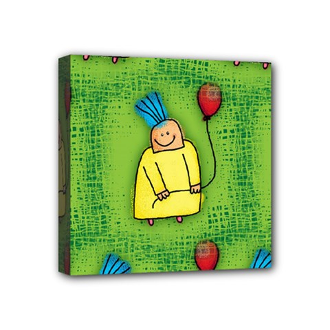 Party Kid A Completely Seamless Tile Able Design Mini Canvas 4  X 4  by Nexatart