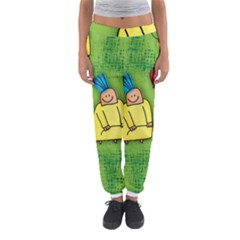 Party Kid A Completely Seamless Tile Able Design Women s Jogger Sweatpants by Nexatart