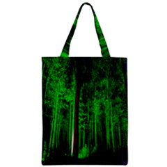Spooky Forest With Illuminated Trees Zipper Classic Tote Bag by Nexatart