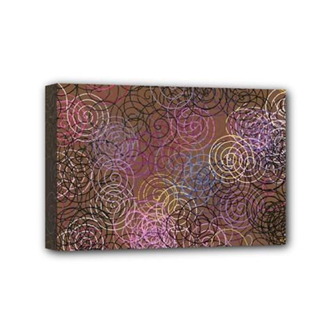 2000 Spirals Many Colorful Spirals Mini Canvas 6  X 4  by Nexatart