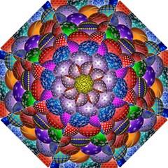 Fun Balls Pattern Colorful And Ornamental Balls Pattern Background Hook Handle Umbrellas (small) by Nexatart