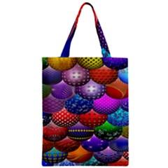 Fun Balls Pattern Colorful And Ornamental Balls Pattern Background Zipper Classic Tote Bag by Nexatart