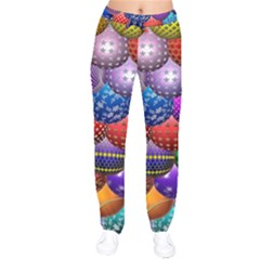 Fun Balls Pattern Colorful And Ornamental Balls Pattern Background Drawstring Pants by Nexatart