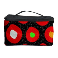Polka Dot Texture Digitally Created Abstract Polka Dot Design Cosmetic Storage Case by Nexatart