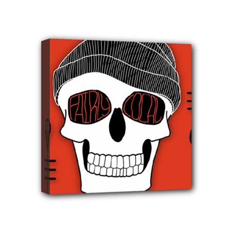 Poster Twenty One Pilots Skull Mini Canvas 4  X 4  by Onesevenart
