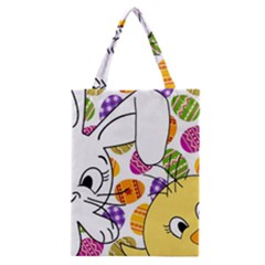 Easter Bunny And Chick  Classic Tote Bag by Valentinaart