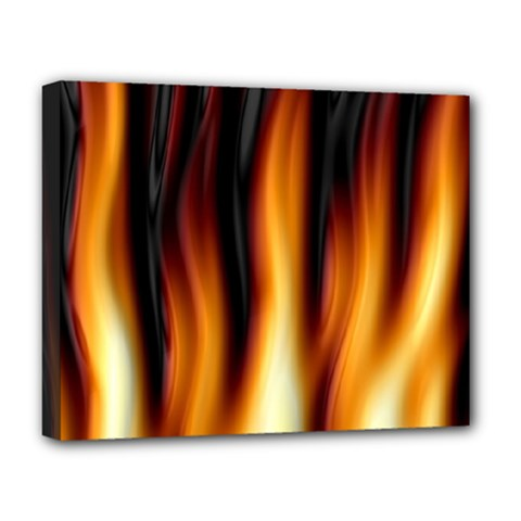 Dark Flame Pattern Deluxe Canvas 20  X 16   by Nexatart