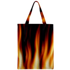 Dark Flame Pattern Zipper Classic Tote Bag by Nexatart