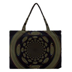 Dark Portal Fractal Esque Background Medium Tote Bag by Nexatart