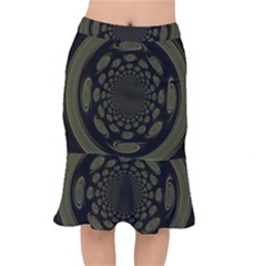 Dark Portal Fractal Esque Background Mermaid Skirt by Nexatart