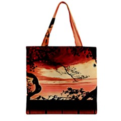 Autumn Song Autumn Spreading Its Wings All Around Zipper Grocery Tote Bag by Nexatart