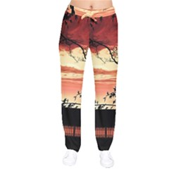 Autumn Song Autumn Spreading Its Wings All Around Drawstring Pants by Nexatart