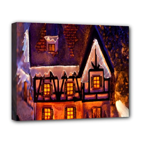 House In Winter Decoration Deluxe Canvas 20  X 16