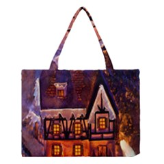 House In Winter Decoration Medium Tote Bag by Nexatart