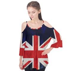 Flag Of Britain Grunge Union Jack Flag Background Flutter Tees by Nexatart