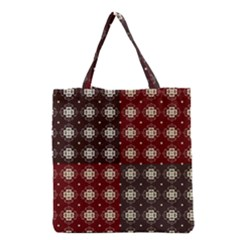 Decorative Pattern With Flowers Digital Computer Graphic Grocery Tote Bag by Nexatart