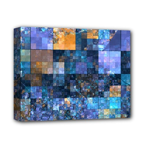 Blue Squares Abstract Background Of Blue And Purple Squares Deluxe Canvas 14  X 11  by Nexatart