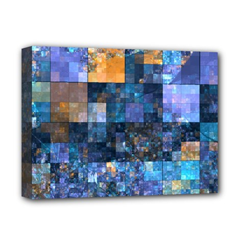 Blue Squares Abstract Background Of Blue And Purple Squares Deluxe Canvas 16  X 12   by Nexatart