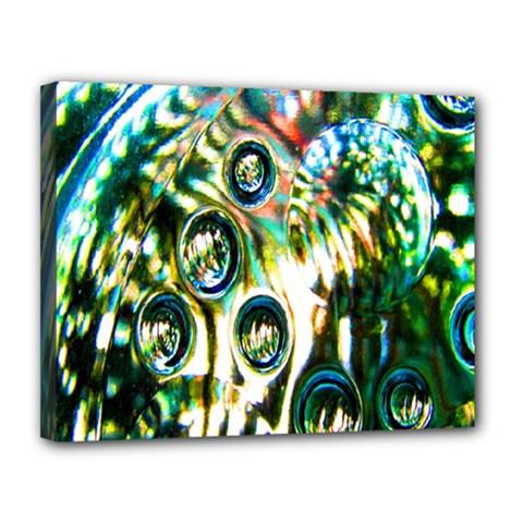 Dark Abstract Bubbles Canvas 14  X 11  by Nexatart