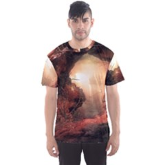 3d Illustration Of A Mysterious Place Men s Sport Mesh Tee