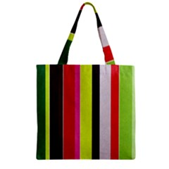 Stripe Background Zipper Grocery Tote Bag by Nexatart