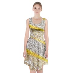 Abstract Composition Digital Processing Racerback Midi Dress by Nexatart