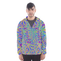 Abstract Floral Background Hooded Wind Breaker (men) by Nexatart