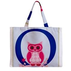 Alphabet Letter O With Owl Illustration Ideal For Teaching Kids Medium Zipper Tote Bag by Nexatart