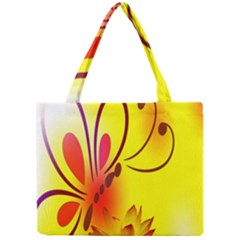 Butterfly Background Wallpaper Texture Mini Tote Bag by Nexatart