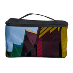Brightly Colored Dressing Huts Cosmetic Storage Case by Nexatart