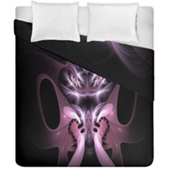 Angry Mantis Fractal In Shades Of Purple Duvet Cover Double Side (california King Size) by Nexatart