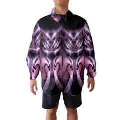 Angry Mantis Fractal In Shades Of Purple Wind Breaker (kids) by Nexatart
