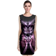 Angry Mantis Fractal In Shades Of Purple Sleeveless Velvet Midi Dress by Nexatart