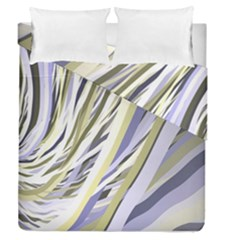 Wavy Ribbons Background Wallpaper Duvet Cover Double Side (queen Size) by Nexatart