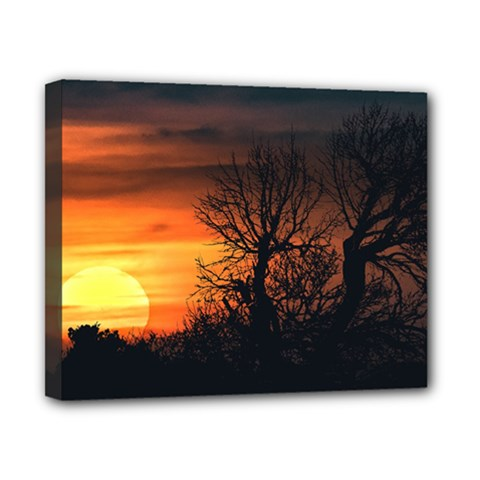 Sunset At Nature Landscape Canvas 10  X 8  by dflcprints