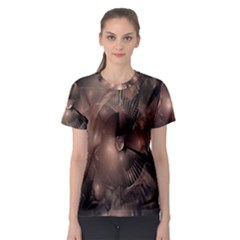 A Fractal Image In Shades Of Brown Women s Sport Mesh Tee by Nexatart